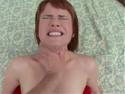 Young and hot redhead fucked by an older man
