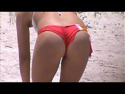 candid beach spy crotch 90 fat booty, pussy lip slip