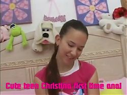Cute teen Christina first time anal